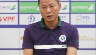 HLV Chu Đình Nghiêm không hài lòng với hàng phòng ngự Hà Nội