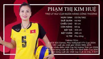 Phụ công số một đội tuyển Việt Nam Phạm Thị Kim Huệ